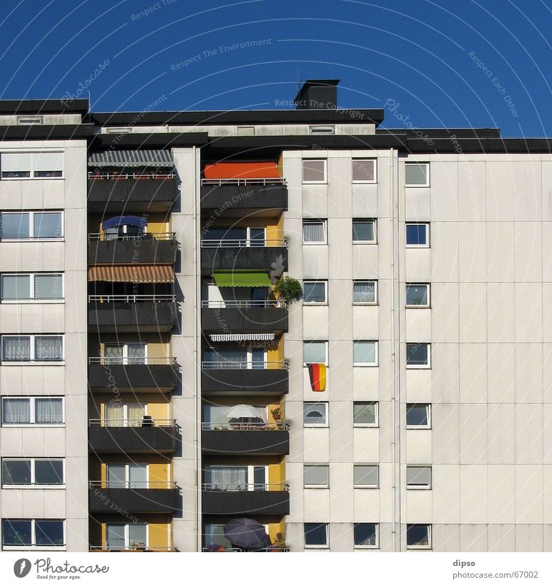 The last Mohican Flag High-rise Sun blind Concrete Multicoloured Germany Prefab construction
