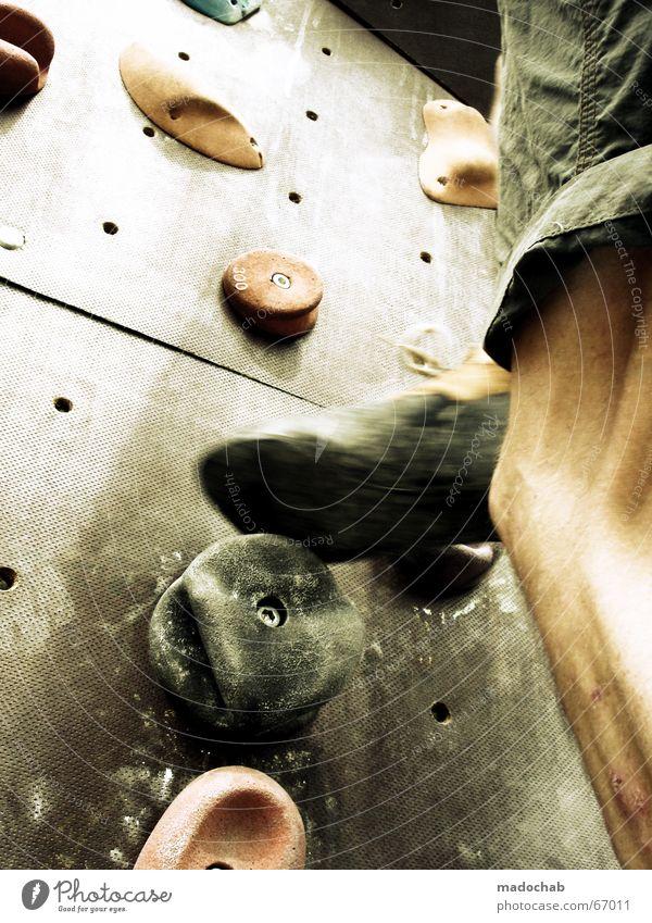HIGHER AND HIGHER |sport climbing mountaineering climbing muscles Mountaineering Human being Life Healthy Practice Endurance Climbing Man Gentleman Effort