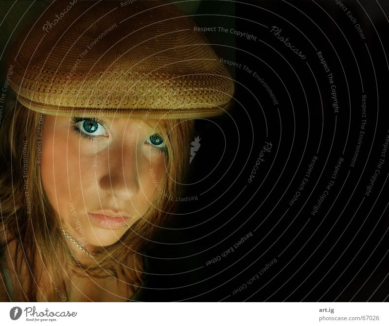 anything you want Baseball cap Piercing Woman Friendliness Empty Eyes Mouth Blue Loneliness dumdidum myself To fall 1