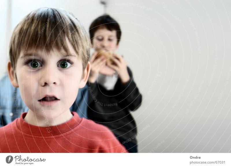 Child Joy Face Boy (child) Funny Nutrition Masculine Crazy Facial expression Grimace