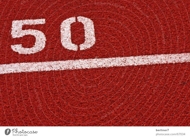 Congratulations on your 50th birthday. Meter Year Running track White Red Hundred-metre sprint Long distance tartan track Target subgoal