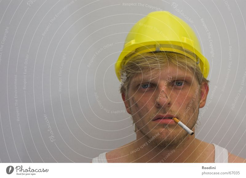 Work and employment Craftsperson Dirty Construction site Profession Cigarette Portrait photograph Machinery Helmet Working man The Ruhr Mining Engineer