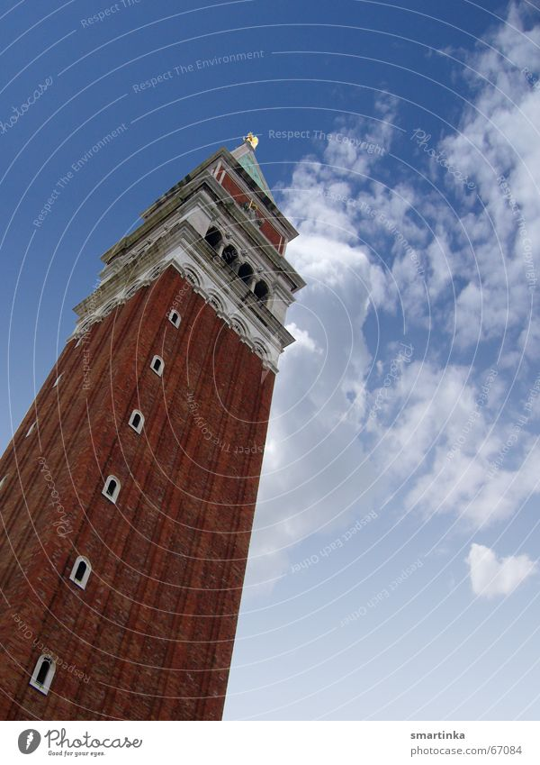 As a tourist in Venice Campanile San Marco Art camera around the neck Bell tower Tourist Attraction Sky Architecture