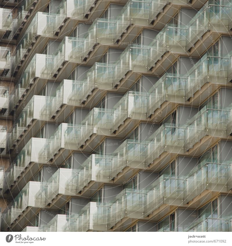 Style Glittering Facade Arrangement Elegant Contentment Design Modern Glass High-rise Perspective Concrete Balcony Transparent Hotel Story