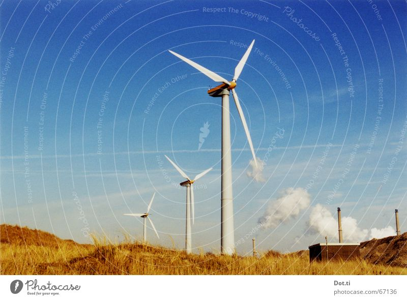 in the Dutch mountains Beach Factory Industry Energy industry Technology Advancement Future Renewable energy Wind energy plant Environment Nature Landscape Air