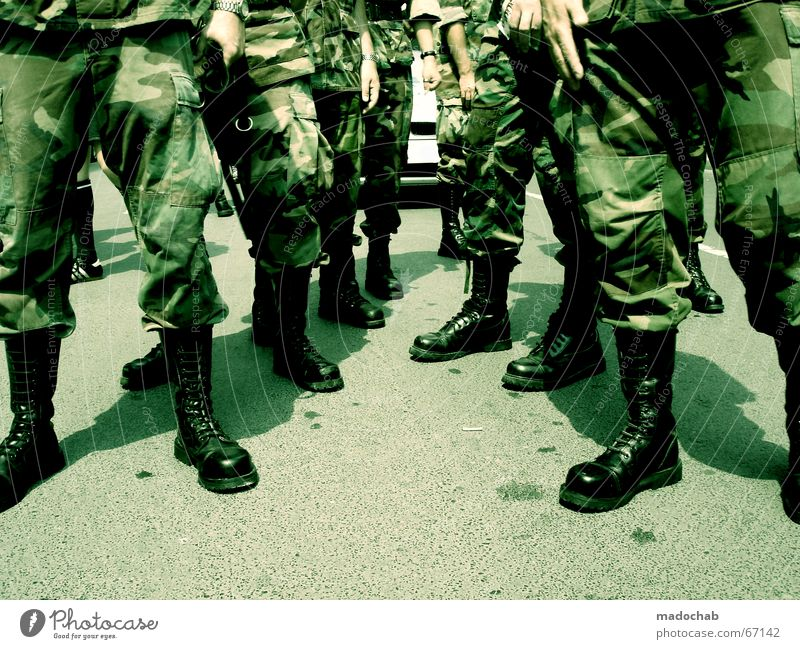Human being Man Legs Feet Footwear Multiple Action Peace Event War Boots Frankfurt Soldier Homosexual Camouflage Stride