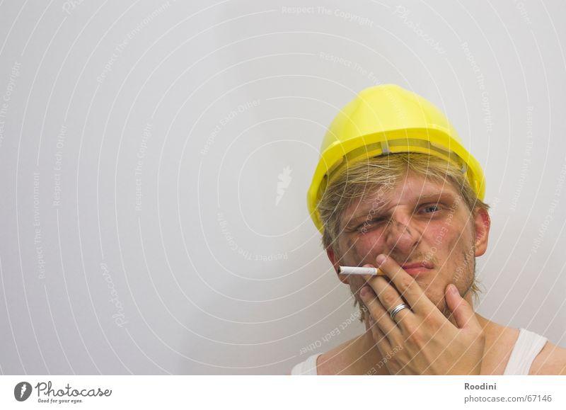 Man Work and employment Dirty Construction site Profession Cigarette Craftsperson Machinery Helmet Pot Working man The Ruhr Mining Portrait photograph Engineer Shift work