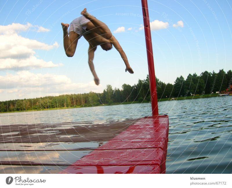 jump to deep Sky Jump Shorts clouds wadden skok woda molo nice holidays wakacje weekend