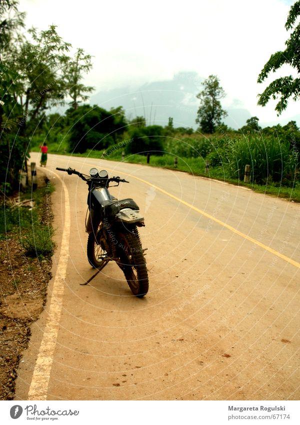 motorbike Motorcycle Thailand Dust Tree Bushes Sand Lanes & trails Street