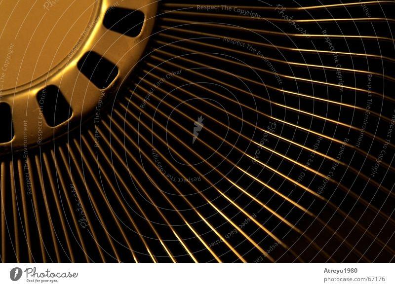 Calm Warmth Air Line Lighting Metal Glittering Wind Physics Ventilation Fan