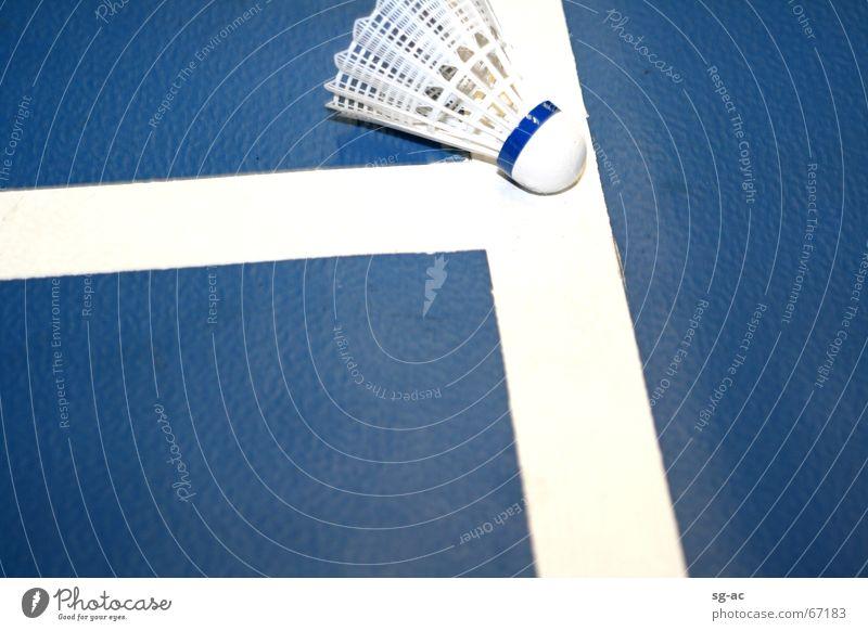 Blue White Sports Line Feather Ball Warehouse Badminton Cork
