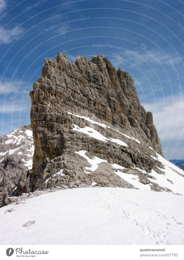 Snow Mountain Rock Climbing Alps Peak Mountaineering Steep Alpine Massive Dolomites