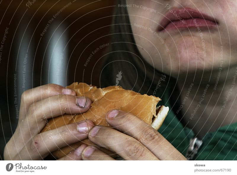 tasty hamburger Hand Dirty Fingernail Roll Appetite To hold on Fat Greasy Fast food Child Mouth Nutrition Eating