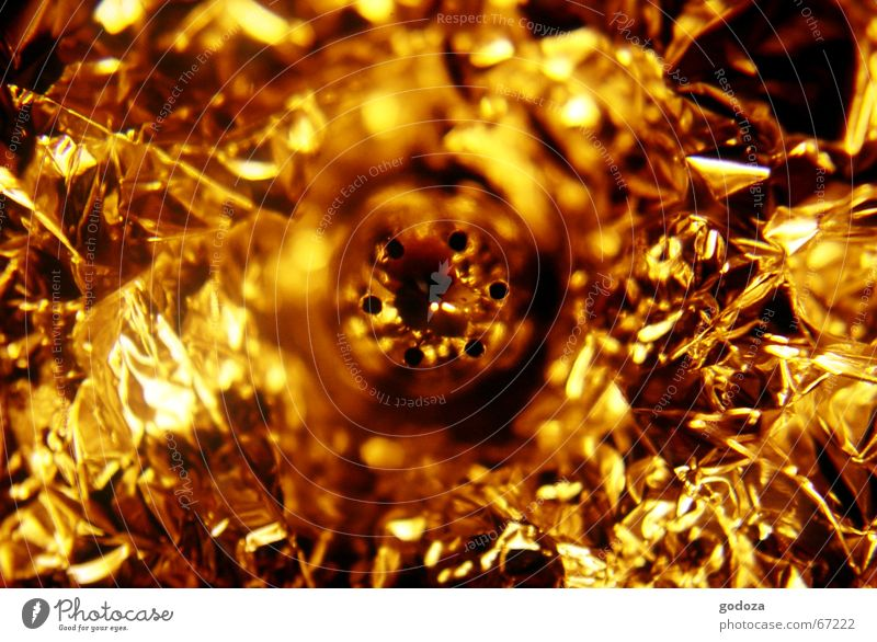gold rush Goldrush Gold bar Splendor Glittering Abstract Chrome Nest Salt caster Aluminium Household Macro (Extreme close-up) Reflection Glimmer Radiation