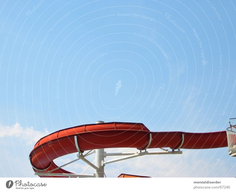 Sky Water Red Joy Park Orange Wet Swimming pool Statue Pipe Iron-pipe Slide London Underground Open-air swimming pool Outdoor festival