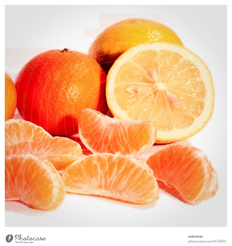 citrus fruits Food Fruit Tangerine Lemon Citrus fruits Nutrition Organic produce Vegetarian diet Diet Fresh Retro Many White Square Frame framed Copy Space