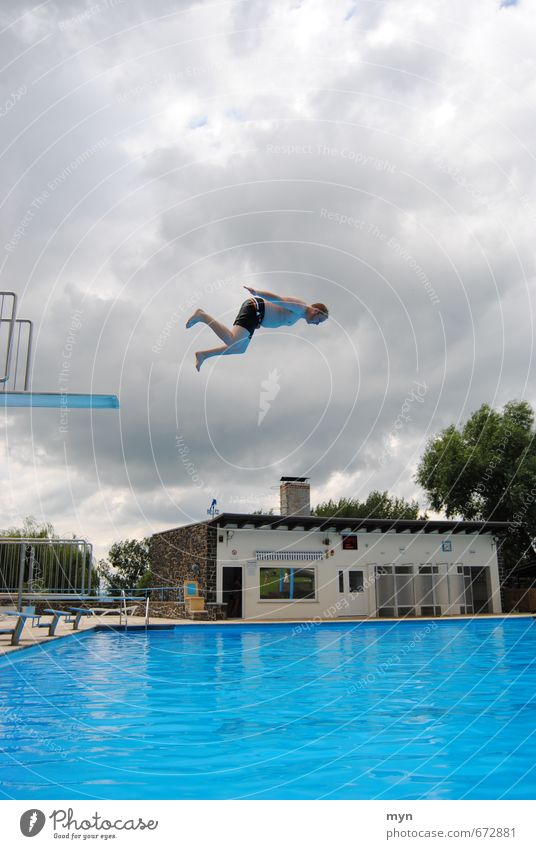 Outdoor Pool II Swimming & Bathing Vacation & Travel Tourism Summer Summer vacation Sun Aquatics Swimming pool Masculine Young man Youth (Young adults) Man