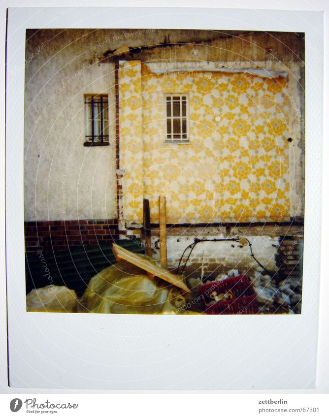 Sky House (Residential Structure) Clouds Meadow Window Wallpaper Agriculture Dismantling Polaroid