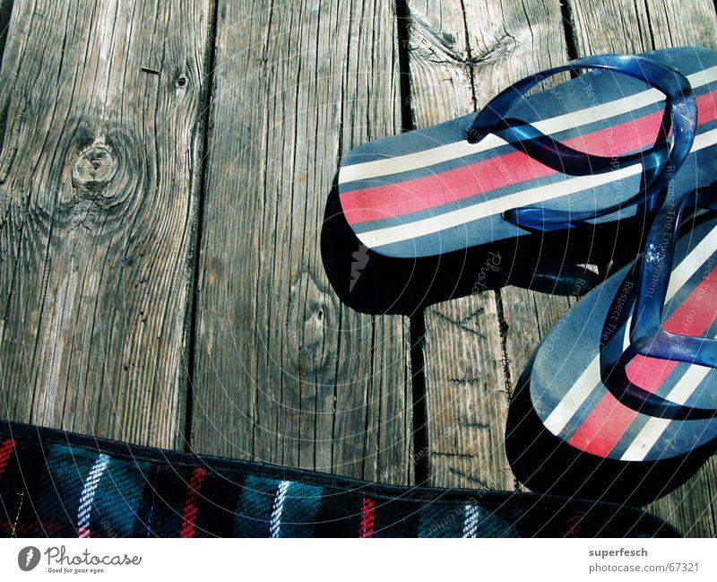 Summer Vacation & Travel Wood Lake Swimming & Bathing Footbridge Blanket Flip-flops Plank Goof off