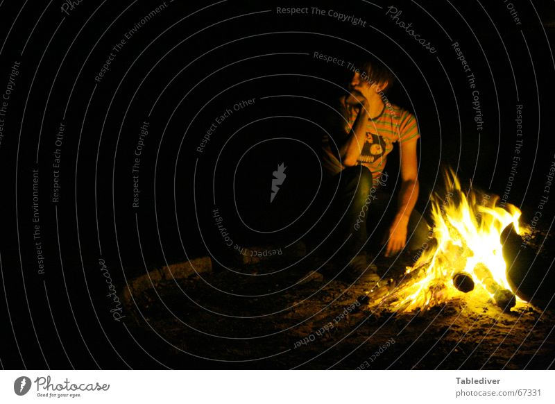 Man Dark Think Warmth Blaze Sit Physics Hot Camping Burn Thought Flame Glow Fireplace Embers Scouts