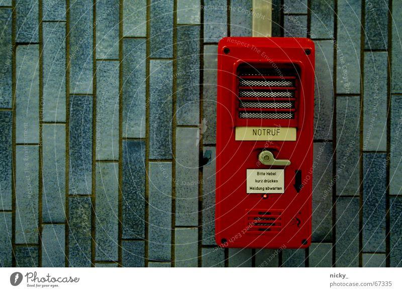 Blue Red Help Safety Tile Square Lever Emergency alarm