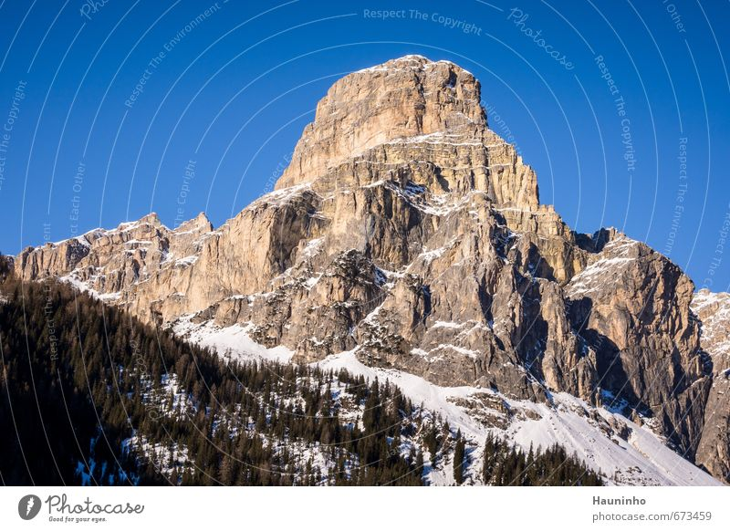 Dolomites Leisure and hobbies Vacation & Travel Adventure Winter Snow Winter vacation Mountain Hiking Sports Climbing Mountaineering Nature Landscape Air Sky
