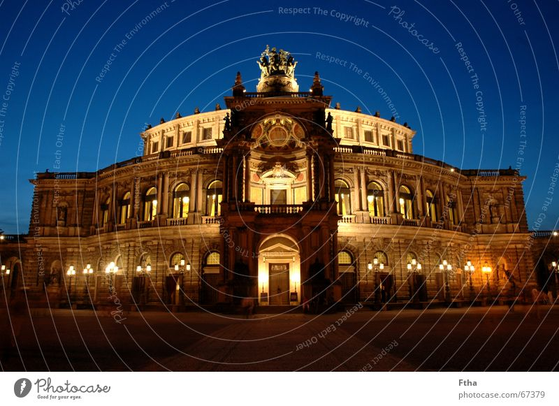 It's time, .... Opera Opera house Manmade structures Monument Enthusiasm Cool (slang) Dresden Saxony Renaissance wagner Semper Colour photo Multicoloured