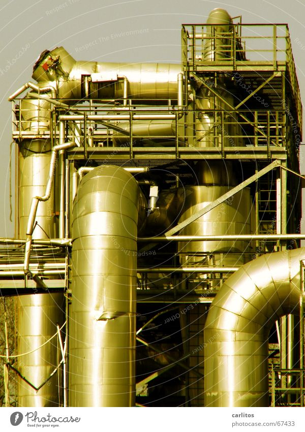 Industrial Photography Factory Pipe Handrail Dismantling Ventilation Shut down
