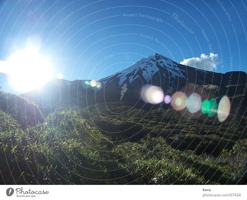 Blue Joy Calm Far-off places Colour Snow Freedom Power Visual spectacle Reaction Volcano New Zealand Mount Egmont