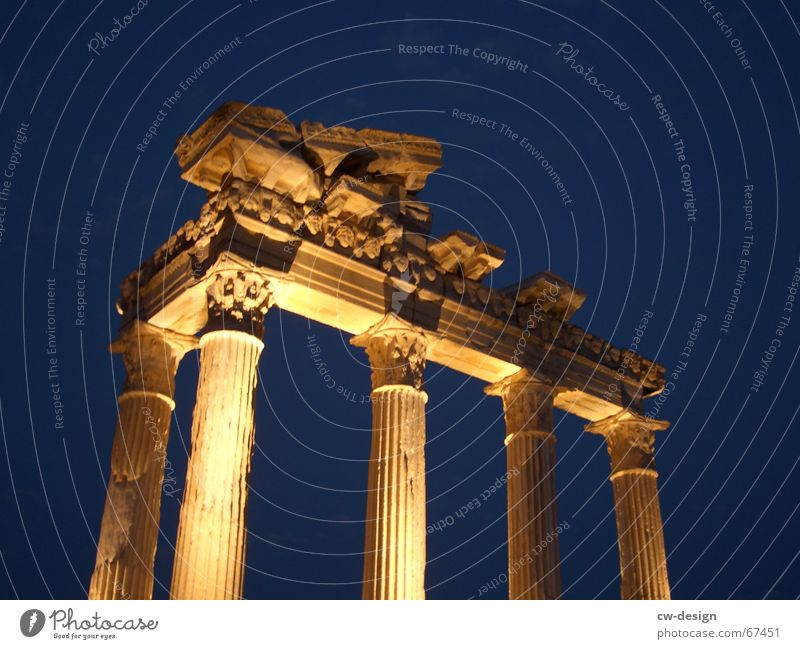 one night in turkiye Temple Greece Turkey Night Culture Mythology Dark Ancient Building Night shot Light Cone of light Dusk Landmark Monument Historic Yellow