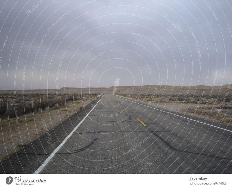 Loneliness Street Dark USA Desert Asphalt Dry Badlands Vest Utah Godforsaken