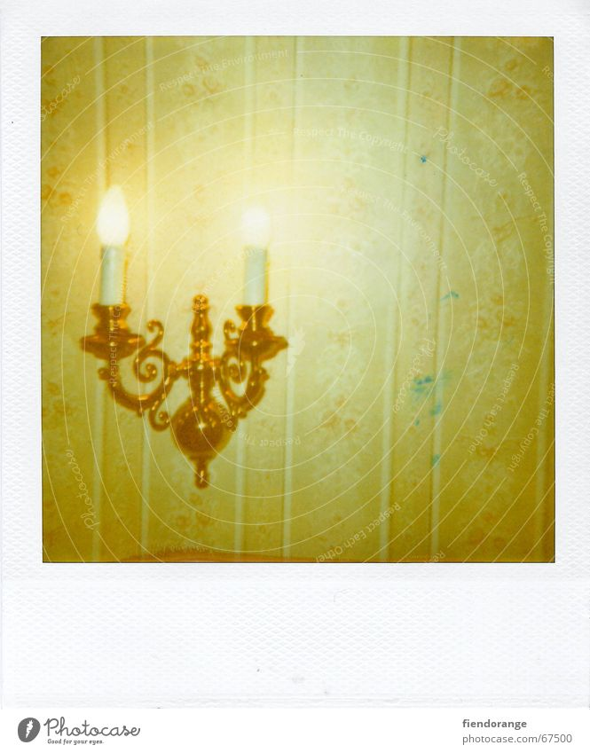 Lamp Moody Room Gold Candle Romance Hotel Wallpaper Biedermeier