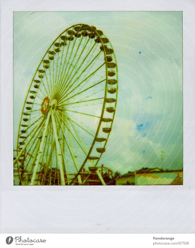 Vacation & Travel Summer Joy Clouds Leisure and hobbies Ferris wheel Recklessness Weekend Amusement Park Carousel