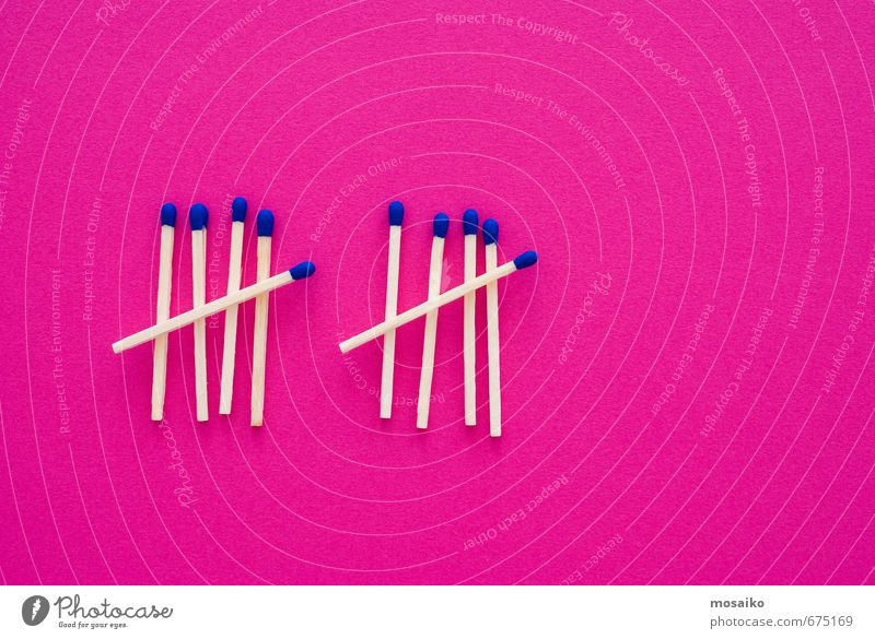 matches Blue Funny Wood Bright Background picture Pink Design Arrangement Wait Dangerous Threat Creativity Fire Idea Copy Space Safety