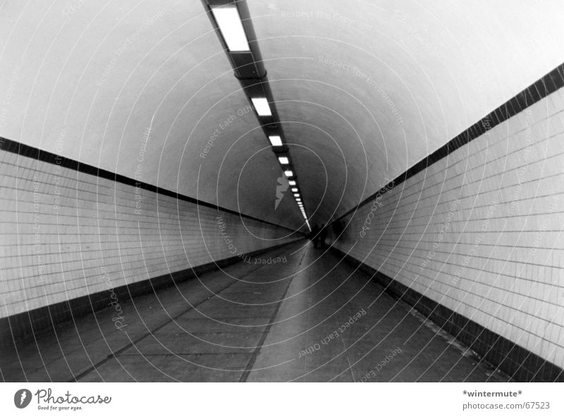 **down under** Tunnel Under Antwerp Pedestrian Lamp Black White footgangers tunnel under the scheldt Tile straight Line Lighting clean hello echo deep down
