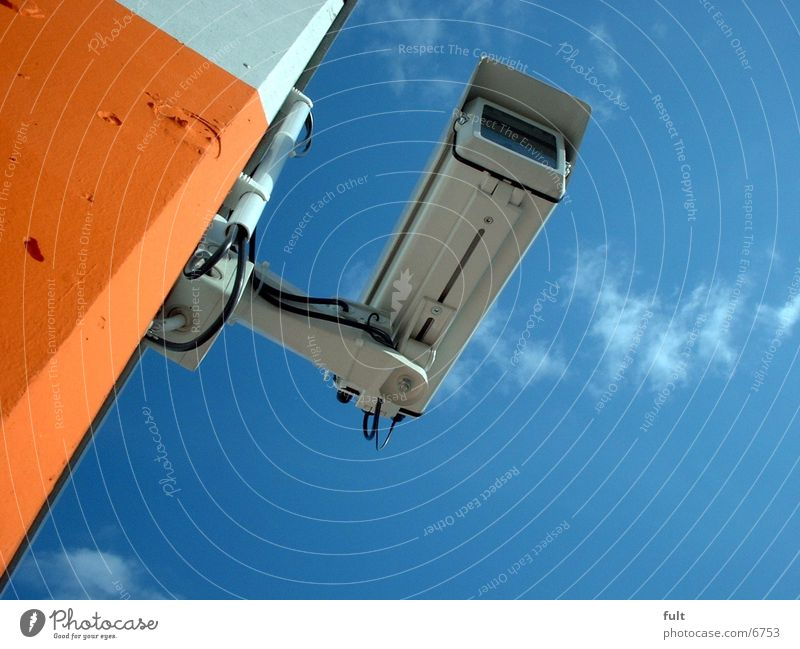 Sky Blue Wall (building) Stone Wall (barrier) Building Concrete Industry Might Technology Observe Camera Discover Testing & Control Surveillance Adhere to