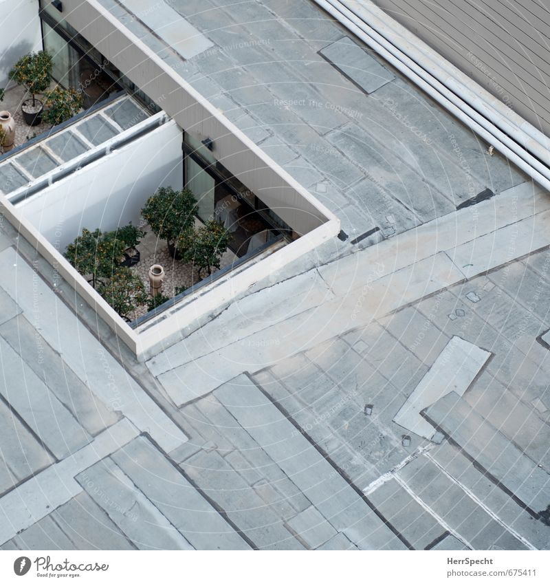 room without view House (Residential Structure) Manmade structures Building Architecture Terrace Roof Sharp-edged Hideous Gloomy Under Town Gray Claustrophobia