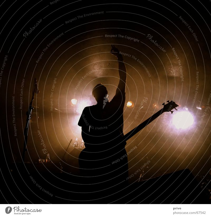 concert Concert Man Stage Guitar Black & white photo rise against String Fat