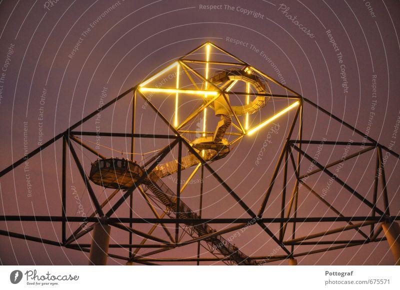 Architecture Idyll Skyline Steel Landmark Tourist Attraction Neon light Pedestrian Populated Fluorescent Lights