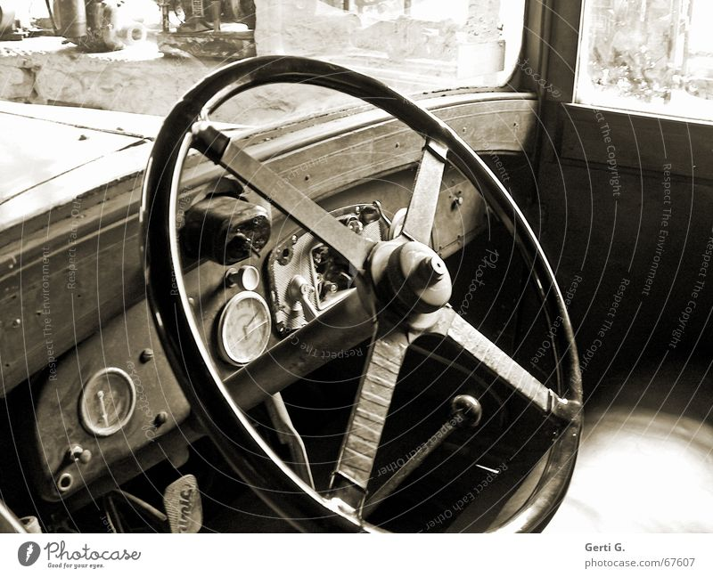 Old Car Motor vehicle Clock Derelict Vehicle Screw Vintage car Switch Brakes Dusty Bicycle handlebars Steering wheel Windscreen Lever Speedometer