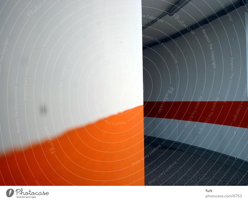 White Lanes & trails Orange Architecture Concrete Tar Passage