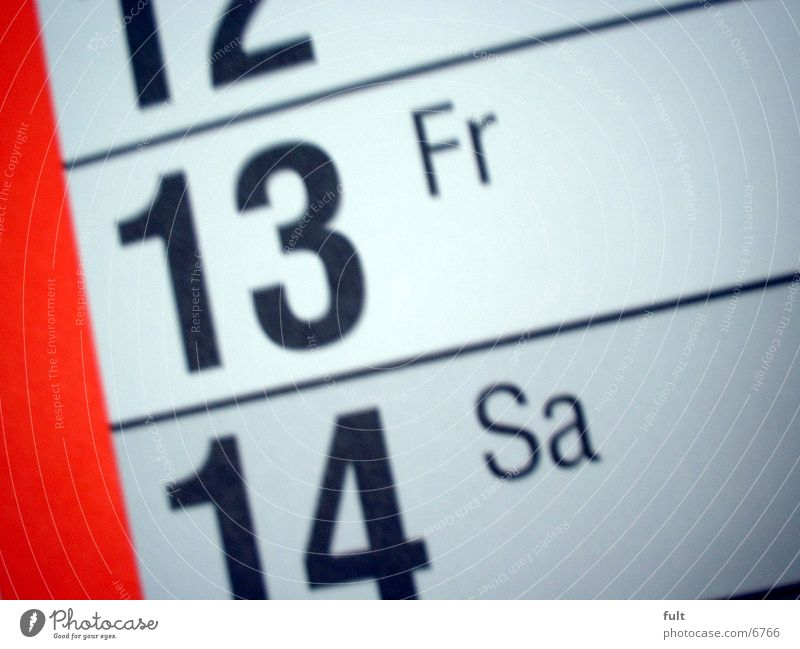 Calendar 13 Photographic technology Friday