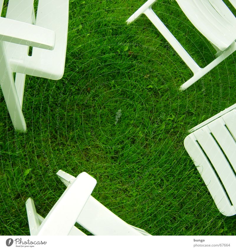 aestas viridis est Green Grass Meadow Chair White Calm Relaxation Peace Leisure and hobbies Summer Backrest Clover Summer vacation Furniture Camping chair