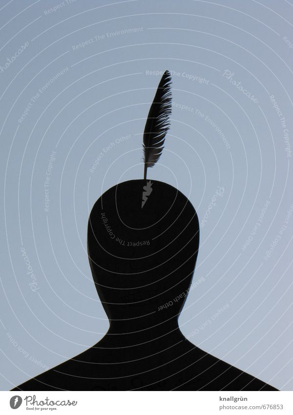 Human being Man Joy Black Adults Emotions Gray Above Exceptional Head Art Masculine Creativity Feather Idea Uniqueness