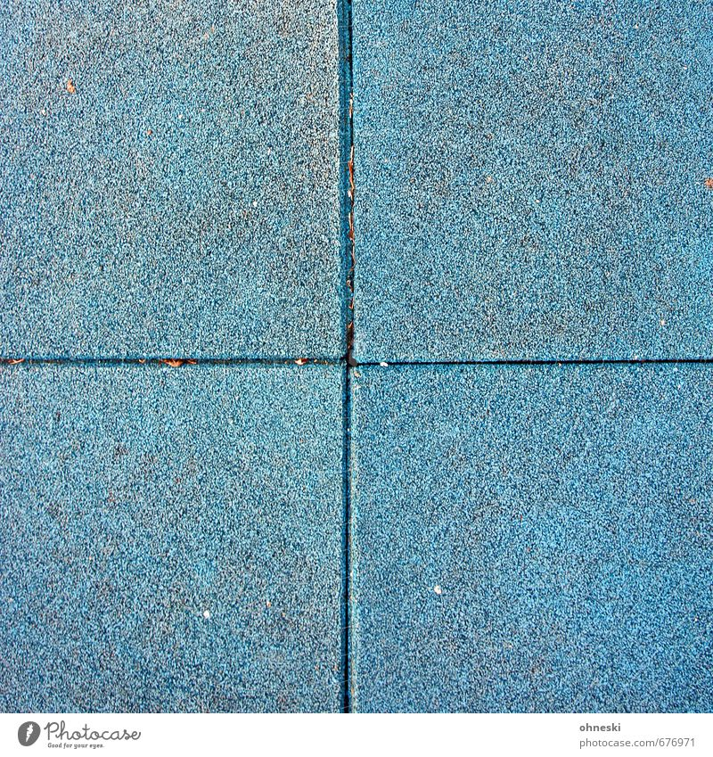 + Tile Rubber Tartan Floor covering Line Blue Colour photo Exterior shot Abstract Pattern Structures and shapes Copy Space left Copy Space right Copy Space top