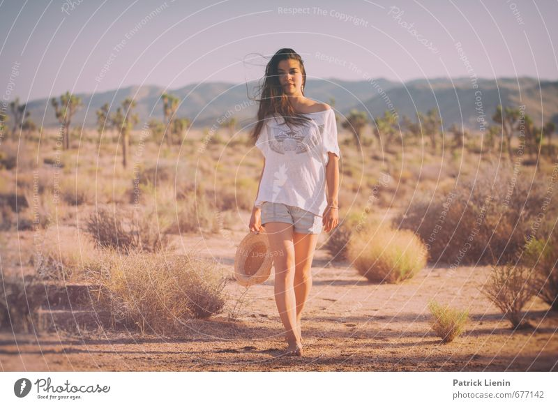 Desert Wind Lifestyle Healthy Wellness Harmonious Well-being Contentment Senses Relaxation Calm Meditation Human being Feminine Young woman Youth (Young adults)