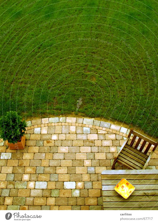 Bird's eye view of the terrace Summer Vacation & Travel Closing time Weekend Terrace Retirement grill smell Garden Outdoor furniture ribbed undershirt