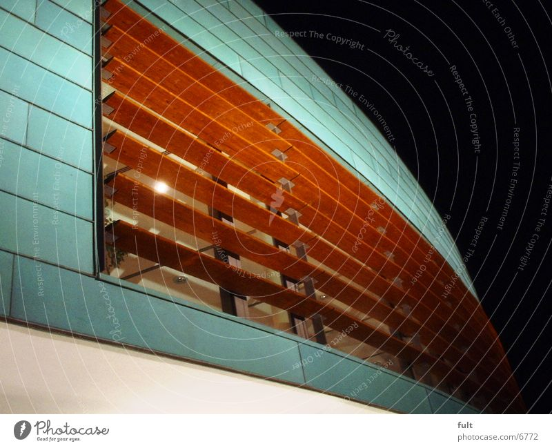 façade Facade Wood Night Architecture Glass