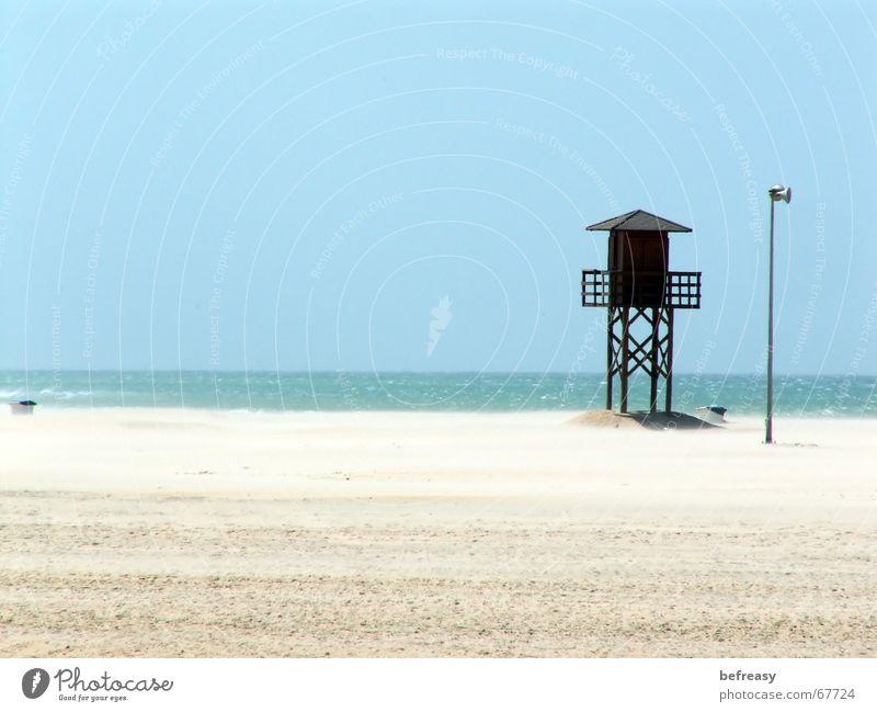 Nature Sky Ocean Blue Beach Loneliness Sand Wind Wooden hut