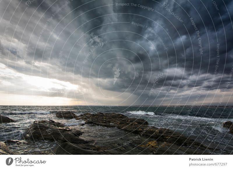 Nature Water Ocean Loneliness Landscape Clouds Environment Coast Dream Weather Rain Waves Wind Dangerous Wet Trip